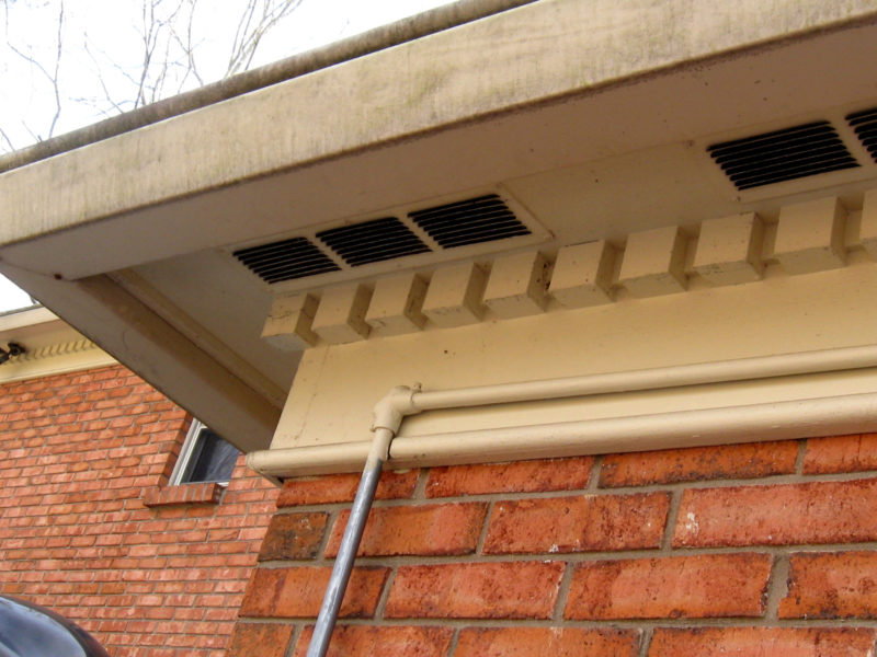 Vents on house.